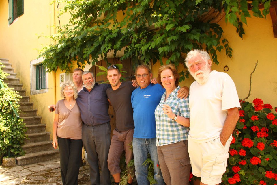The team: Rosemary Bellamy, Colin Stevenson, David Shimwell, Me, Dave Ashcroft, Lee Durrell and David Bellamy