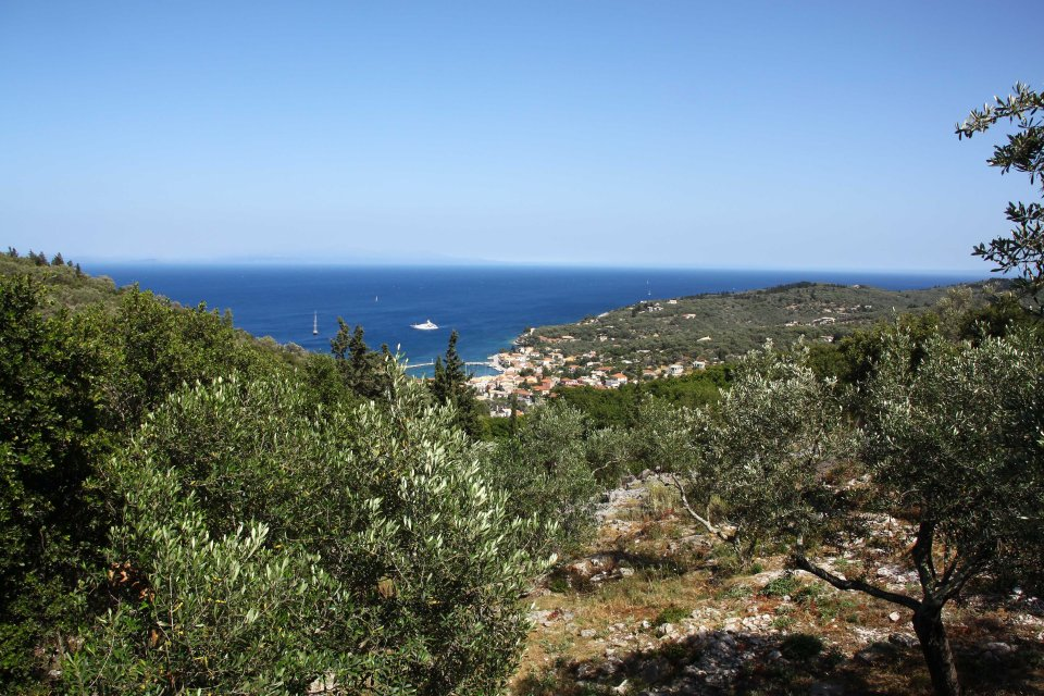 View from our apartment of the capital of Paxos: Gaios