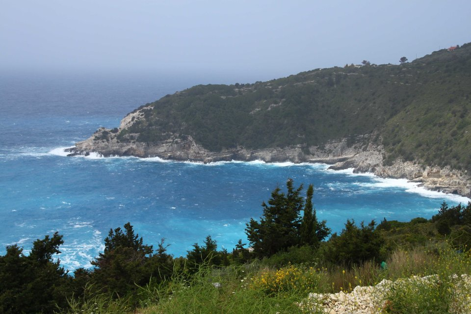 Rough seas meant we couldn't take our scheduled boat back to Corfu